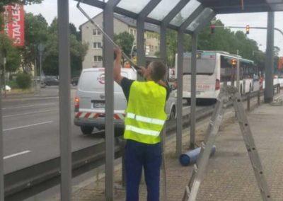 Demontage von Bushaltestellen